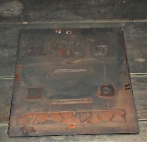 "Rare Waltham Clock Four Color Large Copper Printing Plates 11"" X 12 1/2"""