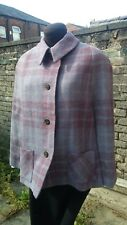 Vtg Original 50s 60s Andrew Stewart Pure Wool Tweed Purple Burgundy Cape 10/12..