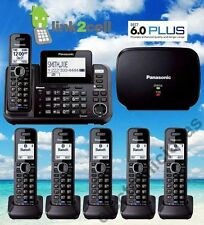 PANASONIC KX-TG9541B 2-LINE LINK2CELL MUSIC ON HOLD 6 CORDLESS PHONES 1 REPEATER