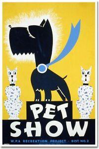 Pet Show - Vintage Dog Pet Animal Art Print NEW POSTER