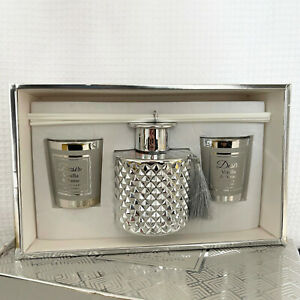 S/3 Vanilla & Anise Desire Luxury Boutique Candle Pair & Diffuser Set Gift Box