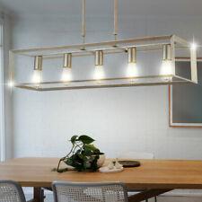Suspendu Éclairage Plafond Chambre-Salon Cadre Suspendu Lampe Argent-Or