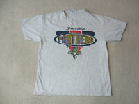 VINTAGE Florida Panthers Shirt Adult Large Gray Gold NHL Hockey Mens 90s *