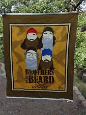 Brothers of the Beard Duck Dynasty 100% Cotton Fabric Material NEW Quilt Wall