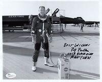 FITZ FULTON HAND SIGNED 8x10 PHOTO     GREAT NASA BLACKBIRD TEST PILOT       JSA