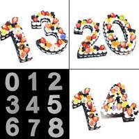 Silikon Anzahl Kuchenform Pan Backform Zinn Geburtstag Jubiläumsform-Werkze N4A7