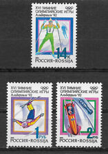 RUSSIA , 1992 WINTER OLYMPICS , SPORTS , SET OF 3 STAMPS , PERF , MNH