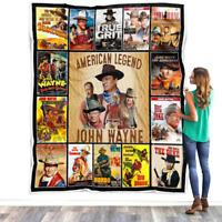 The Hero American Legend Quilt - John Wayne Blanket - Fleece, Sherpa Blanket V1
