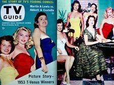 TV Guide 1953 T-Venus Winners Angie Dickinson Dawn Oney #29 VTG Abbott Costello