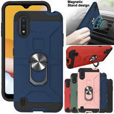 For Samsung Galaxy A21 A01 Case Ring Stand Holder Shockproof Hybrid Phone Cover