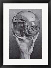 M.C. Escher Hands Reflecting Sphere, Framed W/Mat 27x21