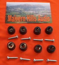 SET OF 8 SMALL 17mm. x 10mm. RUBBER FEET FOR PA SPEAKERS & CABINETS