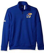 Adidas Men's Kansas Jayhawk Basketball 1/4 Zip Team Issue Jacket Jersey Medium M