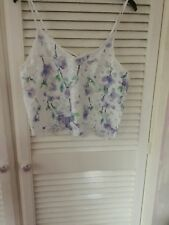 Ladies Brand New Floral New Look Strappy Cropped Top UK Size 12