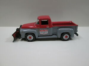 1956 FORD F-100 PICKUP WITH SNOW PLOW   S SCALE DIE-CAST