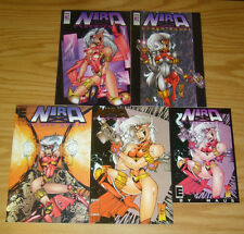 Nira X: CyberAngel #1-4 VF/NM complete series + ashcan - bill maus bad girl set