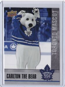 2020-21 UD Upper Deck Carlton the Bear Toronto Mascot Card NHCD SP #M9 Mint