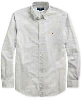 Polo Ralph Lauren Men's Big and Tall Oxford Plaid Long Sleeves Classic Fit Shirt