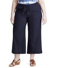 Chaps Linen Blend Pants Women's Plus Size 3X