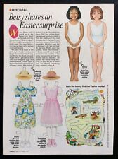 Vintage Betsy McCall Mag. Paper Doll, Betsy Shares a Surprise, April 1995