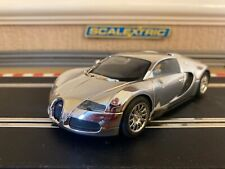 Scalextric Bugatti Veyron Rare Chrome Version Fully Serviced & New Braids Fitted