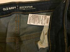 "XP3~Old Navy Rock Star Mid Rise Distressed Jeans 18 Regular/Inseam:29""~Waist:38"""