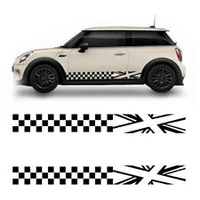 Universal 2PCS Car Auto Stickers Body Both Sides Decoration Decal Lattice Black