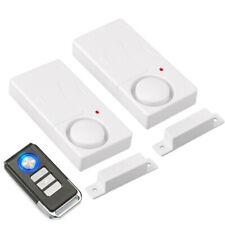 Tür Fenster Alarm 110dB Einbruchschutz Funk Türsensoren mit Fernbedienungen Weiß
