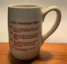 Rare Vintage Adolph Coors Employee Plant Operations Mug Coffee / Tea Cup Beer