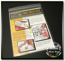 Bare Metal Laser/Colour White Decal Film - Three Sheet Pack #BMF-125