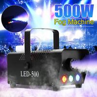 500W Portable Smoke Fog Machine RGB LED Stage Light With Remote Controller K Q