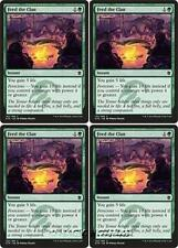 4x FEED THE CLAN Khans of Tarkir MTG Green Instant Com