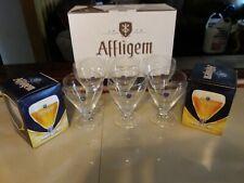 Box Of 6 Affligem Belgium Goblet glassware .3 litre stemware New 115 cases