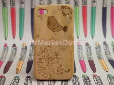 Beauty Decoration Bird Natural Wood Phone Cover Case for Apple iPhone 4 4S