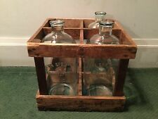 VINTAGE SET OF 3 CHIPPEWA SPRINGS CORP GALLON BOTTLES IN ORIGINAL CRATE RARE