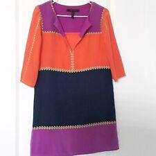 BCBGMaxAzria Womens XS Dress 100% Silk Colorblock