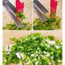 5 Blades Scissors Vegetable Chopper Paper Shredder Cutting Scissor Kitchen Herb
