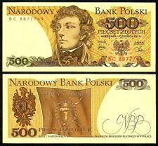 POLAND 500 ZLOTYCH 1979  P145c UNCIRCULATED