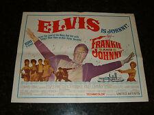 "FRANKIE AND JOHNNY Original 1966 Movie Poster, 22"" x 28"", C7.5 Very Fine Minus"