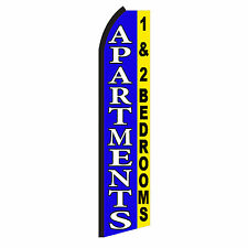 Apartments 1 or 2 Advertising Sign Swooper Feather Flutter Banner Flag Only