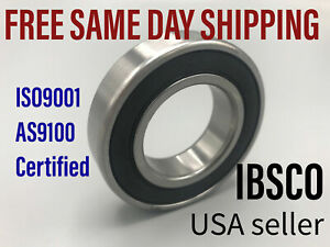 6212-2RS 6212DD (lot of 2) Rubber Sealed Single Row Ball Bearing 60 x110 x 22mm