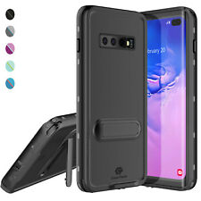 For Galaxy S10 Plus Waterproof Case Slim Cover with Kickstand & Screen Protector