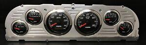 1960 1961 1962 1963 Chevy Truck 6 Gauge GPS Dash Panel Insert Black