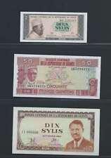 Guinée Lot de 3 billets différents  en état NEUF   Lot N° 1