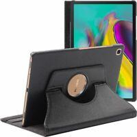 Coque Samsung Galaxy Tab S5e 10.5 T720/T725 Housse Etui Rotatif 360 PU Cuir Noir
