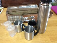 Stainless Steel Coffee for Two Travel Thermos Camo Kit Cups Case Sports Hiking