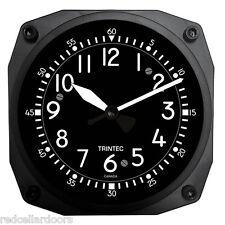 "TRINTEC New Aviation COCKPIT Style 6.5""  Wall Clock Aviatrix Pilot New Gift"