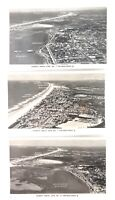 .c1940s GOLD COAST, QLD. 3 x MURRAY AERIAL VIEWS. 1, 7, 15. REAL PHOTO POSTCARDS