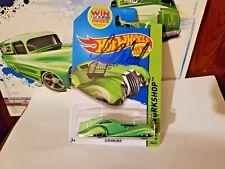 HOT WHEELS SCREAMLINER  GREEN  AUTOGRAPHED CARD  LARRY WOOD