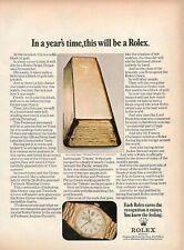 1972 Original Werbung' Vintage Rolex Armbanduhr Day-Date Platin Barren Gold